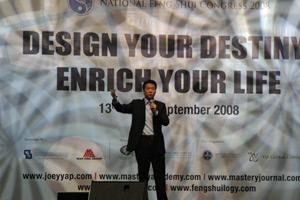 Joey Yap at the National Feng Shui Congress in Kuala Lumpur